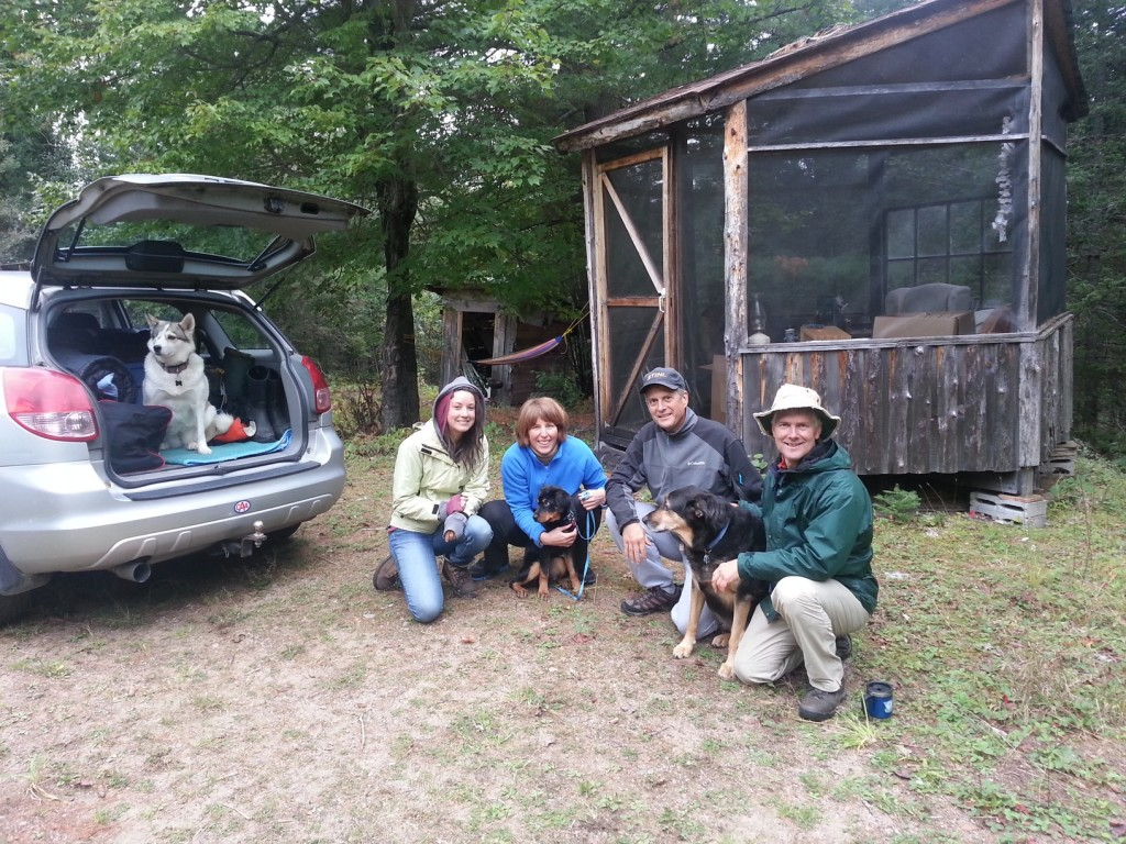 A great crew up at the cabin with Freckles, Nicole, Carol (with Maddie), Paul, Terry